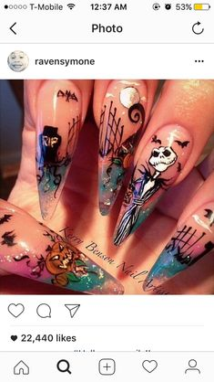If you a girl who like getting your nails did.try using these pins when you do also add me Halloween Nail Designs, Halloween Nail Art, Cool Nail Designs, Halloween Stuff, Goth Nails, Stiletto Nails, Nail Piercing, Hollywood Nails, Party Nails