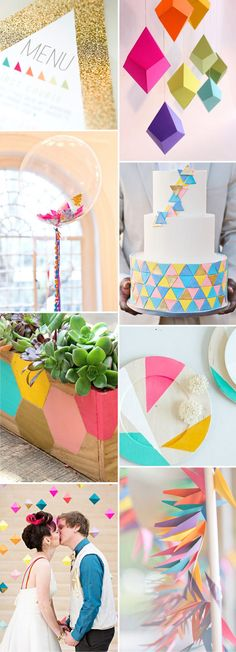 Geometric-Wedding-Inspiration Read more on http://onefabday.com/geometric-wedding-inspiration/