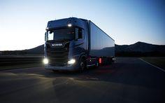 Descargar fondos de pantalla Scania R730, 2017, 4k, camiones, nuevos camiones, Scania