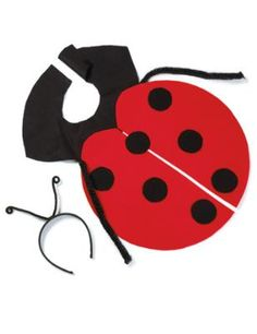 Easy Ladybug Costume. Pinned for Kidfolio the parenting mobile app that makes sharing a  sc 1 st  Pinterest & DIY Ladybug Costume: How to make a ladybug costume #halloween ...