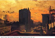 """Sunset, West Twenty – Third Street"" – John Sloan"