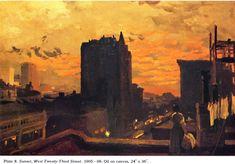 """Sunset, West Twenty - Third Street"" - John Sloan"