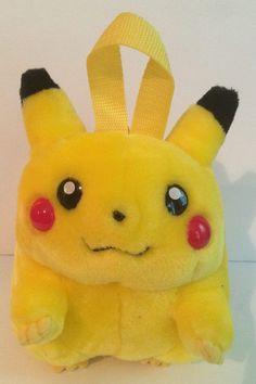 "Pokemon Pikachu Backpack Plush Nintendo Gameboy Holder 90's Vintage 9"" NWT #PyramidAccessories"