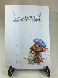 #Schmunzelpilz #Karte #NoLine #card
