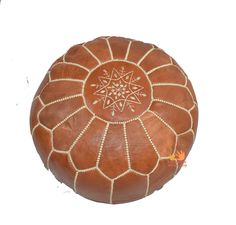 Fushia Pouf Ottoman Genuine Leather Moroccan Pouffe Pouf Handmade Ottoman Footstool