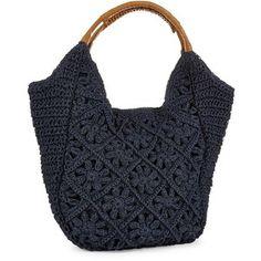 STRAW STUDIOS Crocheted Hobo Bag