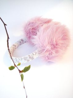 Pink Ear muffs ear warmers  pink spring by RainbowMittens on Etsy, $33.00  For when Daddy watches Scarface.