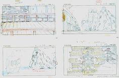 Film: Spirited Away (千と千尋の神隠し) ===== Layout Design - Scene: Crossing The Bridge ===== Hayao Miyazaki