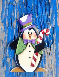 NEW 2016 Mr. Dancing Penguin Ornament by CountryCharmers on Etsy