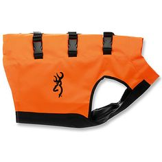 Yup, I think we need to get this for our next hike with Bosco!!   DOG SAFETY VEST, BLAZE, SMALL, Protect your best friend with Browning's extensive new line. Outfit your dogs  with a neoprene or blaze orange safety vest. These vests keep them warm and  protect against thick brush.