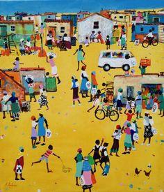 Busy Township Morning by Katherine Ambrose | Township Art Artwork | Fine Art Portfolio
