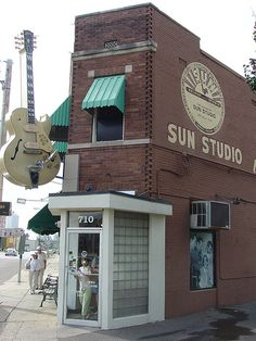 Sun Studio--Memphis, TN by Zero Discipline, via Flickr  This is the place Elvis Presley, Carl Perkins, Jerry Lee Lewis and Johnny Cash recorded many of their early records.
