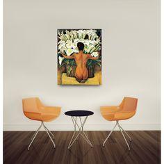 RIVERA - Nude with Calla Lilies 82x104 cm #artprints #interior #design #art #prints  Scopri Descrizione e Prezzo http://www.artopweb.com/EC18735