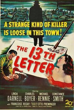 The 13th Letter - USA (1951) Director: Otto Preminger