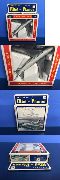 Vintage Manufacture 2650: Vintage Bachmann Mini Planes Boeing 747 ( Pan Am ) Authentic Model Pan American -> BUY IT NOW ONLY: $30 on eBay!