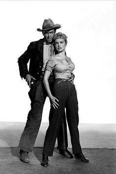 THE NAKED SPUR (1953) - James Stewart & Janet Leigh - Directed by Anthony Mann - MGM - Publicity Still.