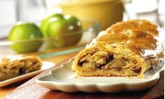 Your family will enjoy the homemade taste and old-fashioned goodness of this delectable apple strudel. It's made with prepared puff pastry, so it's easy and delicious. Comments