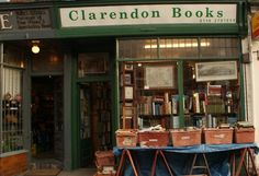 Clarendon Bookshop, Leicester.(Never could resist those boxes!)