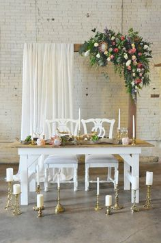 23 Sweetheart Table Ideas for Newlyweds Who Only Have Eyes for Each Other Rustique Rentals & Event Design Bridal Table, Wedding Table, Farm Wedding, Boho Wedding, Sweetheart Table Backdrop, Wedding Reception Decorations, Wedding Backdrops, Wedding Ideas, Wedding Couples
