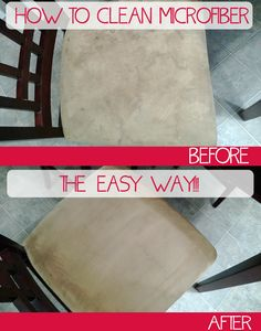 Clean Microfiber the Easy WayJust got a microfiber couch. Diy Cleaning Products, Cleaning Solutions, Cleaning Hacks, Cleaning Supplies, Deep Cleaning, Cleaning Microfiber Couch, Couch Cleaning, Microfiber Cleaner, Upholstery Cleaner