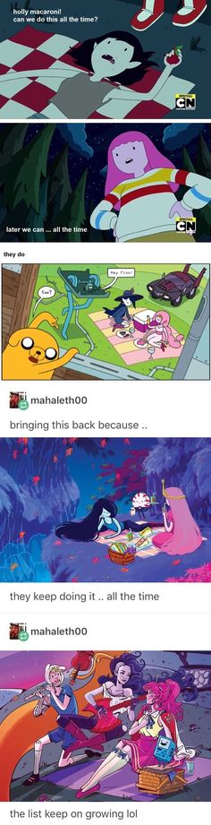 Funny love cartoons adventure time 15 ideas for 2019 Adventure Time Princesses, Adventure Time Anime, Funny Cartoons, Funny Memes, Marceline And Princess Bubblegum, Jake The Dogs, Fanart, Bubbline, Romance