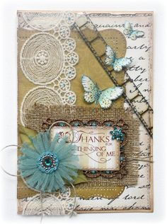 Card made with NEW Websters Pages Once Upon a Halloween patterned papers and Fabric Trims, by design team member Gabrielle Pollacco Atc Cards, Card Tags, Bird Cards, Scrapbooking, Scrapbook Cards, Butterfly Cards, Flower Cards, Burlap Card, Websters Pages