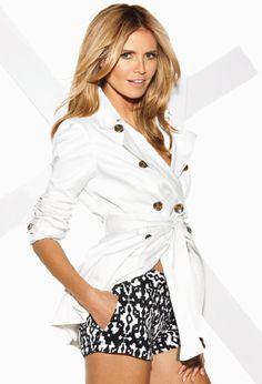 Who wears INC International Concepts short shorts? The beautiful Heidi Klum!