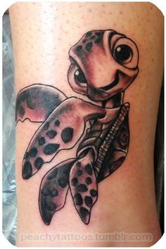 Finding Nemo tattoo (Squirt!) Frig this is adorable!