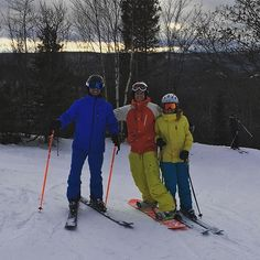 First run of the season was a success @eileenharford @dylanread61 #searchmont #ski #snowboarding