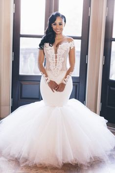 80 Gorgeous Wedding Dresses Debut for This Spring Lace Mermaid Wedding Dress, Sexy Wedding Dresses, Perfect Wedding Dress, Mermaid Dresses, Cheap Wedding Dress, Wedding Attire, Bridal Dresses, Bridesmaid Dresses, Wedding Gowns