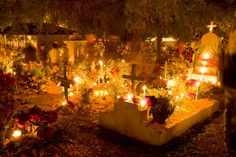 graveyards around Morelia during Día de los Muertos (Day of the Dead) in Mexico
