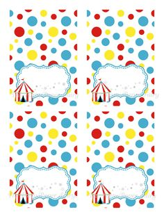 PRINTABLE, DIY Circus Food Label Table Tent Cards (Cirque Du Bebe) by The Party Paper Fairy. $5.00, via Etsy.