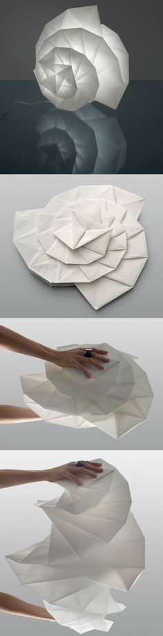 三宅一生的影子灯:时装设计和灯具设计的混搭 Paper Craft, Paper Art, Paper crafts project ideas, 3D Origami Paper Art Videos.Pinned from http://5-minutecrafts.net