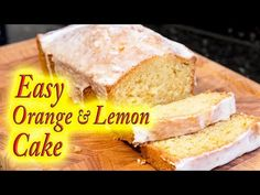 Orange and lemon cake made easy at home, step by step simple instructions from start to finish. Cake Recipes, Dessert Recipes, Party Recipes, Nothing Bundt Cakes, Party Desserts, Dessert Party, Oranges And Lemons, Just Cakes, Sweet Bread