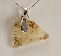 Real Dandelion Seeds in heart shaped resin pendant by GreyGyrl, $14.00