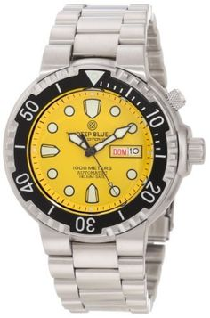 Deep Blue Men's Seadiver1kyel Sea Diver 1k 1000 Meter Dive Watch Deep Blue. $209.95. Helium release valve. Automatic movement 21 jewels. Professional dive watch. Water-resistant to 3280 feet (1000 M). Superluminova glow. Save 25%!