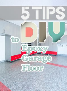 5 Tips to DIY Epoxy Garage Floor. If you are thinking of doing this yourself read these tips. #garage #epoxy #diy