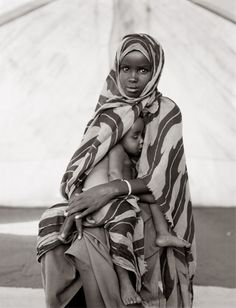 Africa | Jamaa Abdullai and her brother Adan, Somali refugee camp, Mandera, Kenya, 1992 | ©Fazal Sheikh