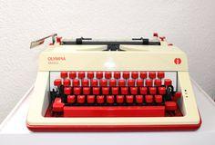 Vintage mechanical typewriter Olympia Monica 60s by EmmasHistory