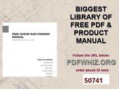 dodge ram owners manual 2011