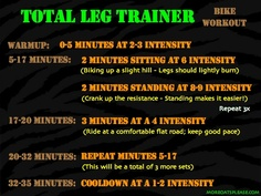 Total Leg Trainer - A great spinning workout that you will Love. Goes by quick and tones your glutes down to your calves!