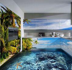 3D vloeren toveren je badkamer om in een levendige oceaan - FHM.nl