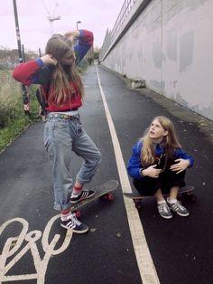 #street style -  #blonde,  #skater girls  #skateboard