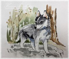 Sunday Watercolors - Dog sketches