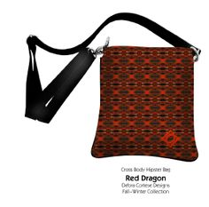 Share the beauty, power and magic of nature when you carry the new Red Dragon Cross Body Hipster Bag from Debra Cortese Designs