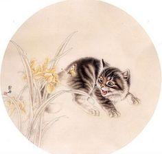 Котята в китайской живописи -   Kittens in Chinese painting  Любовь к этим мягким пушистым зверькам, как и нелюбовь, — это чувство вечное. Кому-то нравится, а кто-то и на дух не переносит этих милых (или не очень) пушистых хищников.  #животные #кошки #котята #китай #animals #cats #kittens #