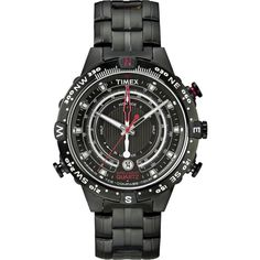 With multiple functions including a tide tracker, temperature sensor and electronic compass all driven by a dedicated fourth hand, the Timex Adventure Series™ Tide Temperature Compass is the . Gents Watches, Sport Watches, Cool Watches, Watches For Men, Electronic Compass, Timex Watches, Watch Sale, Color Negra, Stainless Steel Bracelet