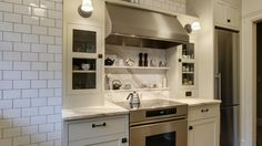 cabinets around stove and frige