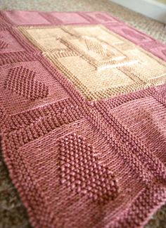Blanket from Easy Heart Knit Stitch Pattern by Studio Knit with Free Pattern and Video Tutorial.