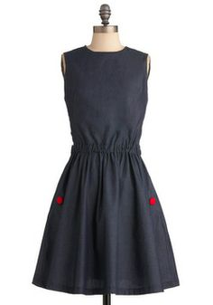 Is It Delicious Dress in Denim - From ModCloth